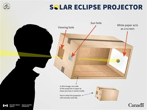 home made solar eclipse box build your own projector to solar eclipses safely canada ca