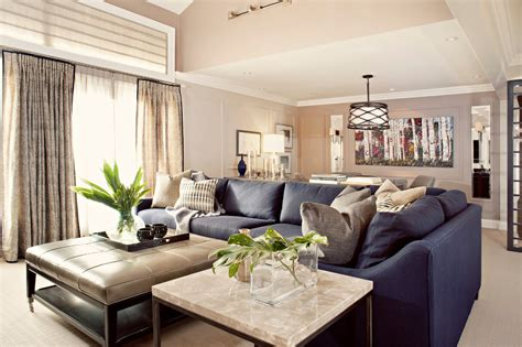 blue leather sofa family room contemporary with high rise