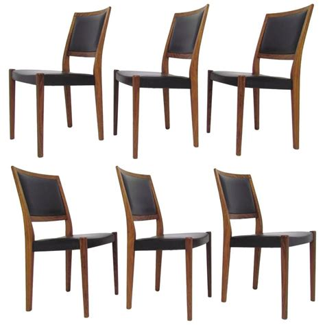 set of 6 rosewood danish modern dining chairs at 1stdibs set of six danish modern rosewood dining chairs by