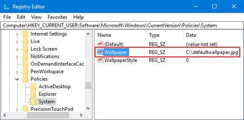 wallpaper registry windows 10 set a default background wallpaper for windows 10 desktop