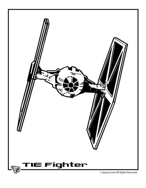 star wars tie fighter coloring page tie fighter star wars pinterest ritter malvorlagen