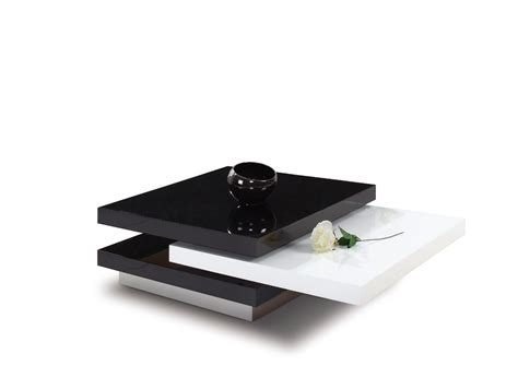 modrest 4g038b modern black and white coffee table