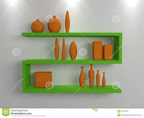 scaffali moderni mensole moderne illustrazione di stock immagine 44185158