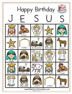 free printable birthday cards for jesus play happy birthday jesus bingo ultimate homeschool