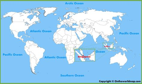 world map image singapore singapore location on the world map