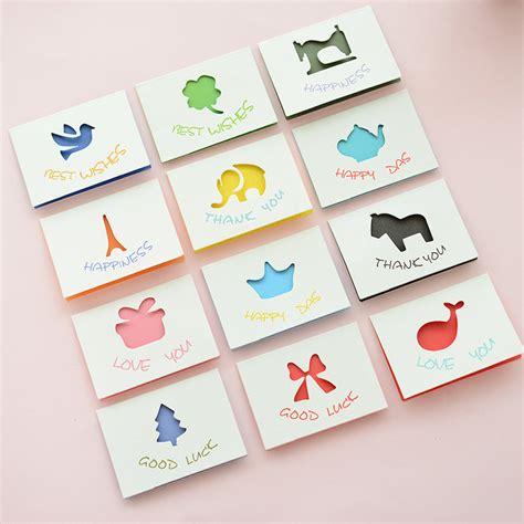 folding greeting cards 11pcs mini birthday folding type greeting card kawaii