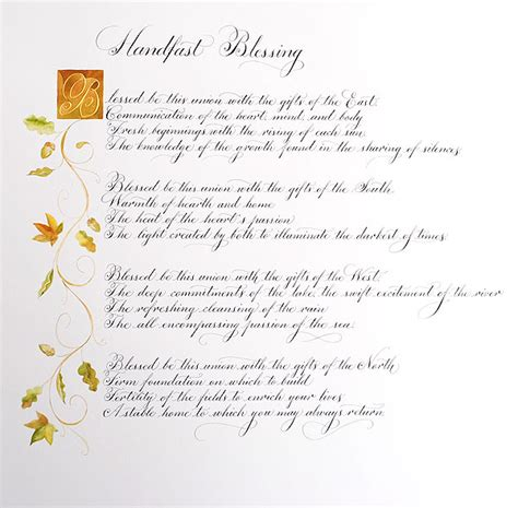 wedding blessing nature handfasting ceremony vows vows before god pagan
