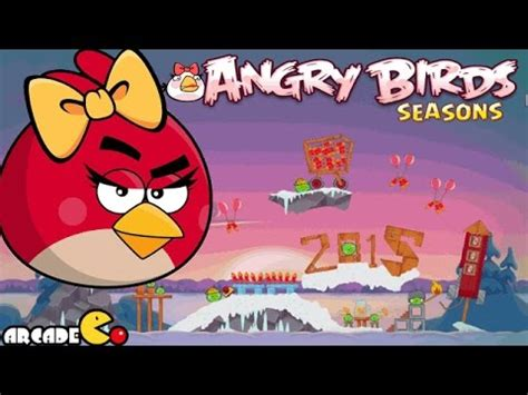 angry birds seasons new year theme angry birds seasons new year s 2015
