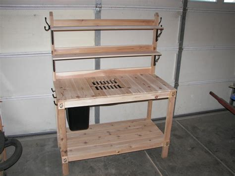 potters bench plans potting bench by greatwhite144 lumberjocks com