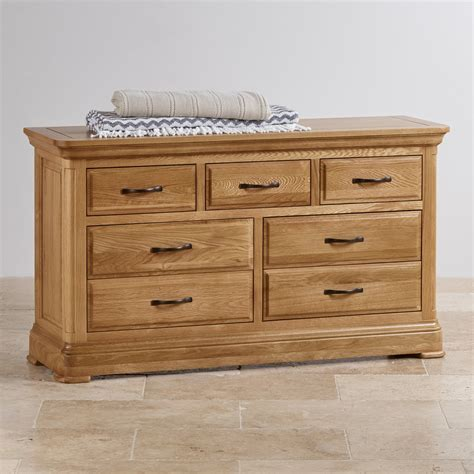 Solid Oak Chest Of Drawers Uk by Canterbury Wide Chest Of Drawers Solid Oak Oak