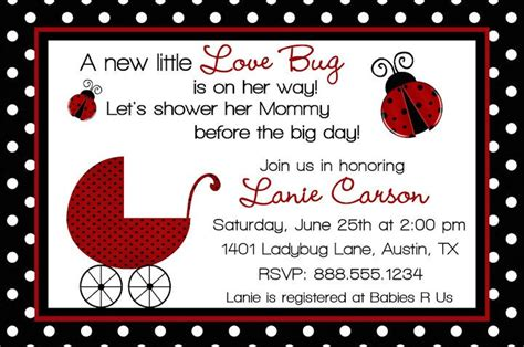 Special Ladybug Baby Shower Design Ideas Home Party Theme Ideas Free Printable Ladybug Baby Shower Invitations Templates