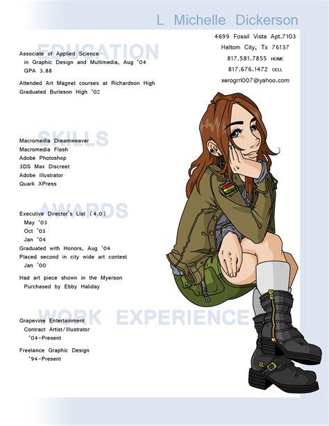 character animator illustrator resume sle een bijzonder fraai cv ontwerp 17 0