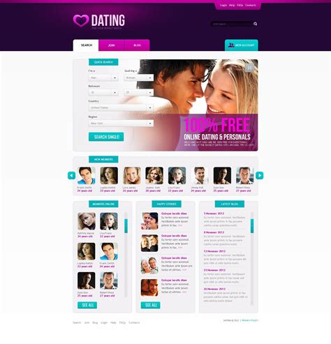 templates for dating website dating website template 39365