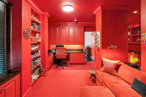 Dipped in cherry monochromatic rooms