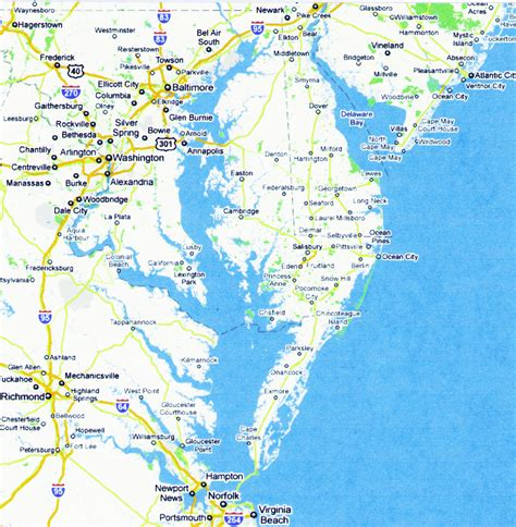 Chesapeake Records Map Of Chesapeake Bay My