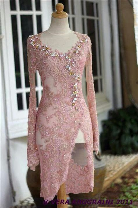 Setelan Kebaya Stretch Lammia Dusty Pink pretty dusty pink kebaya by house of vera kebaya modekl 228 der och inspiration