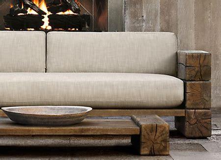 Log sofa 3 seater harsha timbers teak amp acacia wood