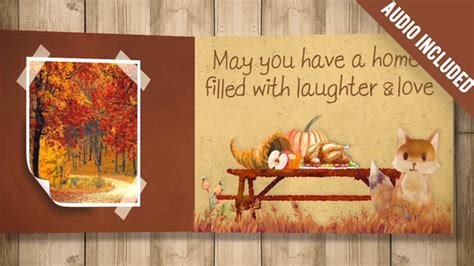 Thanksgiving Carrousel Special Events After Effects Templates F5 Design Com Thanksgiving After Effects Template