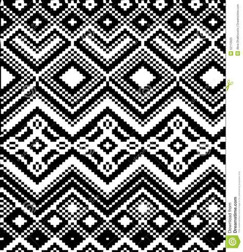 Black And White Knit Pattern | knitting pattern stock illustration image 52110925