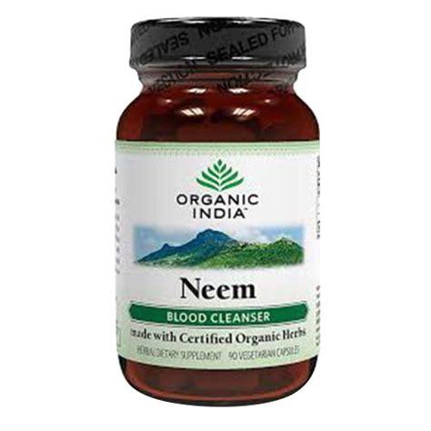 Detox Cs India by Organic India Neem 90 Count Ehouseholds