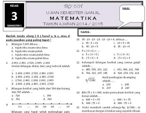 Buku Soal Sd Kl 4 1 soal uas semester 1 matematika kelas 3 rief awa kumpulan soal ujian