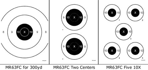 reduced distance f class targets for practice at 300 yards