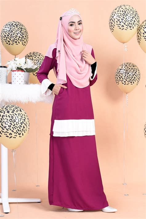 Kaitan Baju Hook Eye baju kurung imani cranberry purple muslimahclothing