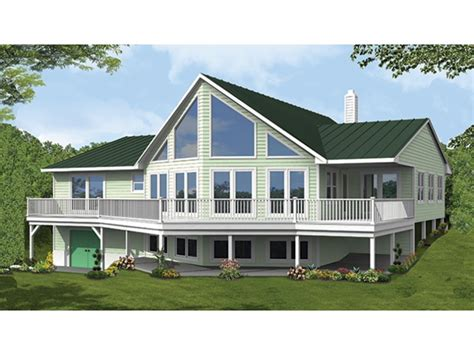 A Frame House Plans With Walkout Basement Vacation Home For A View Lot Hwbdo77305 A Frame From Builderhouseplans