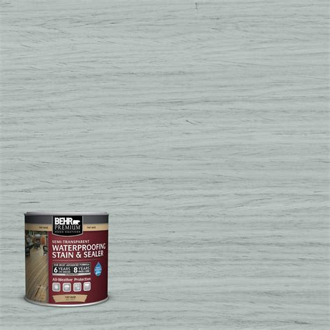 behr premium  oz st cape  gray semi transparent