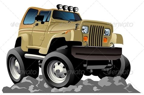 Jeep Character Vector Jeep Graphicriver