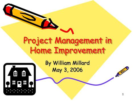 ppt project management in home improvement powerpoint