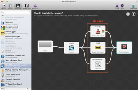 alfred workflow up and running with the alfred powerpack workflows