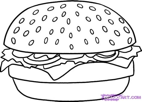 how to draw a hamburger step by step food pop culture