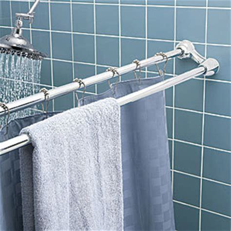 double bar curtain rod china double extensible shower curtain rod and towel bar