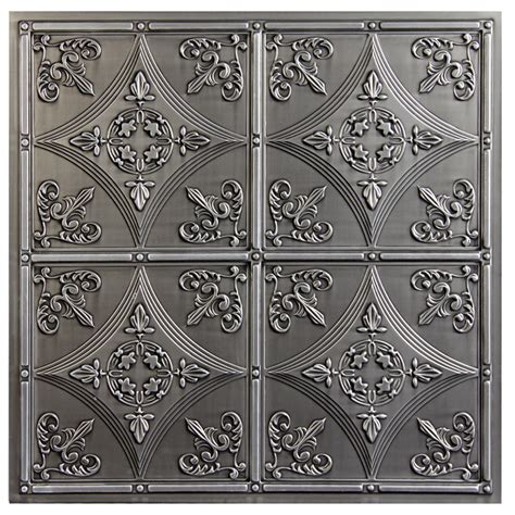 Cathedral Antique Nickel Faux Tin Ceiling Tiles Sted Tin Ceiling Panels