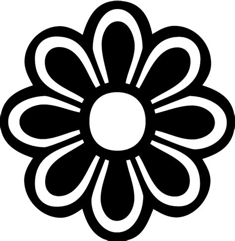 flower pattern black and white clipart flower templates printable cliparts co
