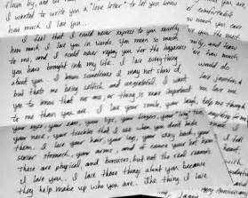 Love letters to him from her this is just a sample love
