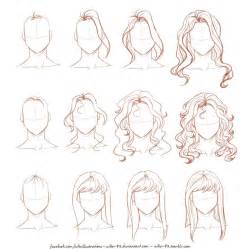 step by step hairstyles to draw how i draw long hair by nikemv on deviantart
