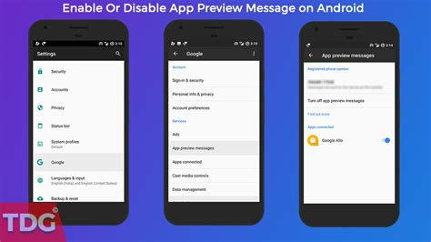 android preview how to enable or disable app preview message on android the droid guru