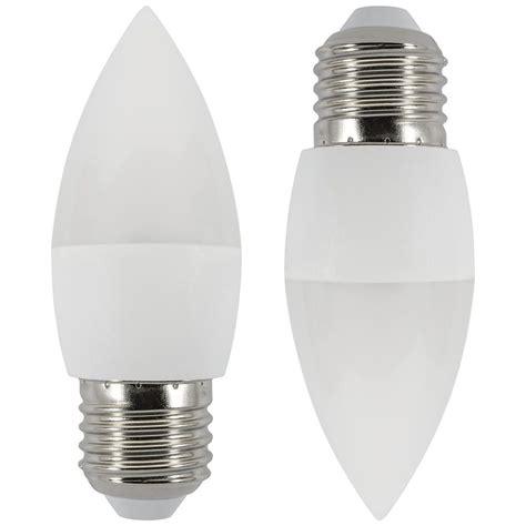 2x 6 Watt Led E27 Edison Screw Candle Bulb Cool White Led Light Bulb Uk