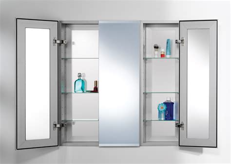 Bathroom Mirrored Medicine Cabinet Bathroom Medicine Cabinets With Lights Recessed Mirrored