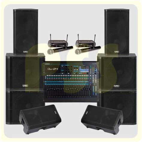 Paket Sound System Outdoor Dan Indoor 15 Inch Aktif Original paket sound system outdoor qsc paket sound system profesional indonesia