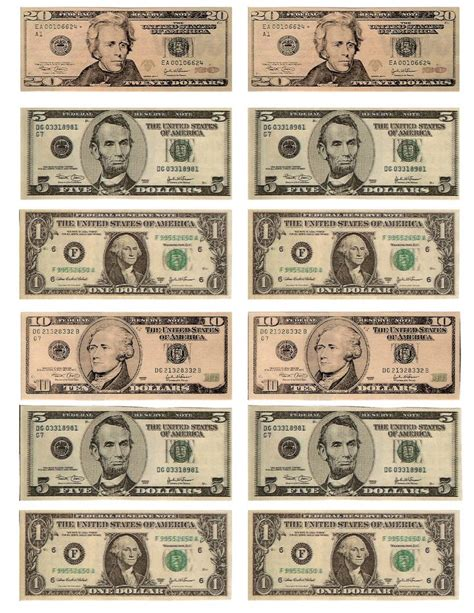 printable fake money pdf legal free printable money when teaching about money or