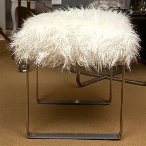 mongolian fur vanity stool mongolian vanity stools at 1stdibs