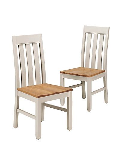 Back Dining Room Chairs by 2 Padstow Slat Back Dining Chairs M S