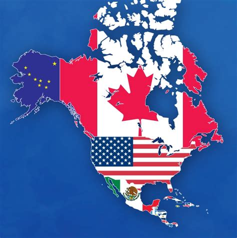 north america map with flags the flags of north america places north america