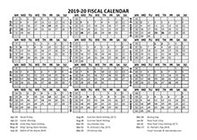 printable  fiscal year calendar template calendarlabs