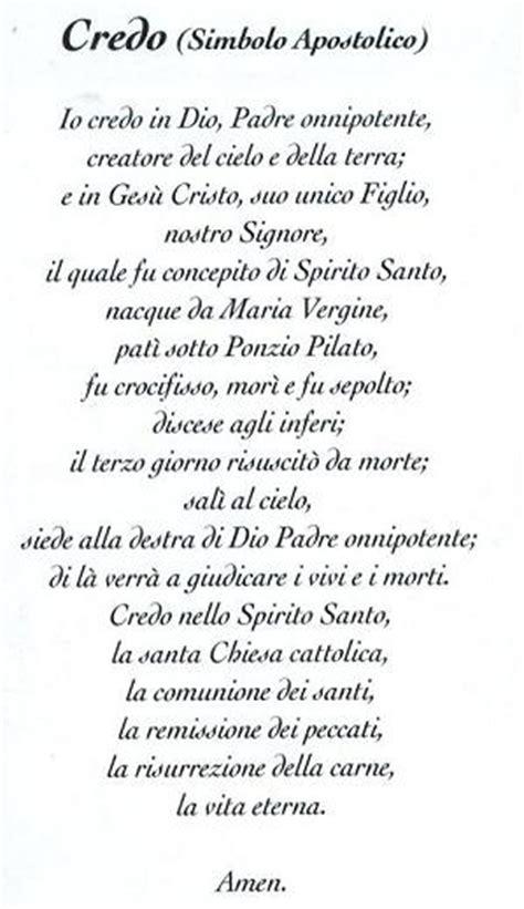 credo cattolico testo anno della fede