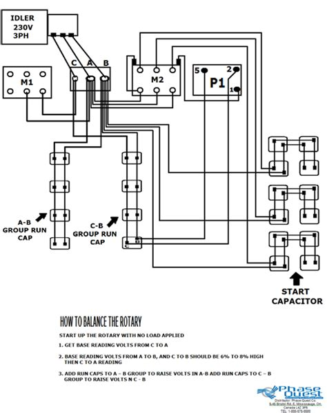 roto phase converter wiring diagram 35 wiring diagram