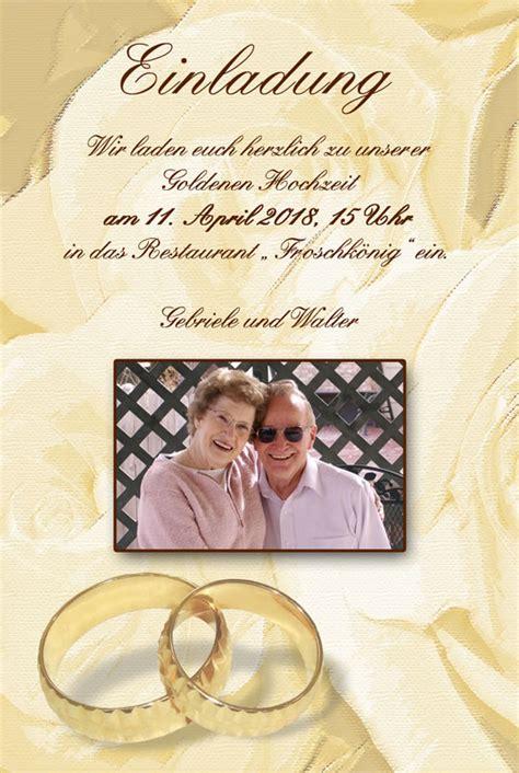 Goldenen Hochzeit by Einladung Einladungskarten Goldene Hochzeit